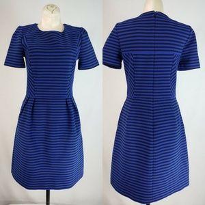 Madewell Dresses - Madewell Gallerist Stripe Ponte Dress Blue Black